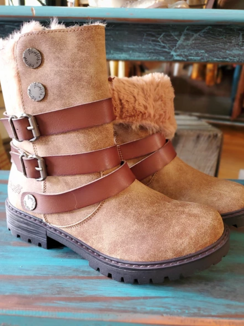 BLOWFISH Suede Faux Fur Lined Boot