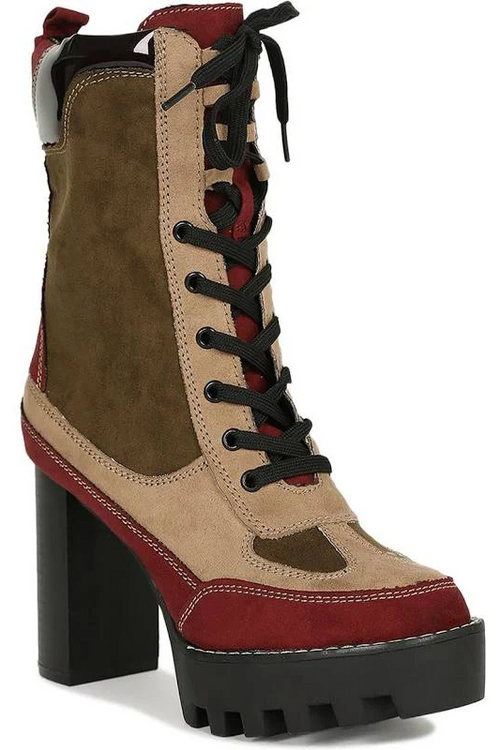Hiker Boot with Thick Heel