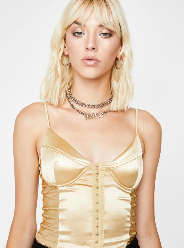Metallic Silk Bodysuit