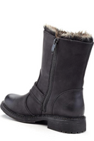 3 Button Bootie with Fur