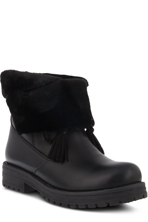 Boot with Fur & Tassel Front