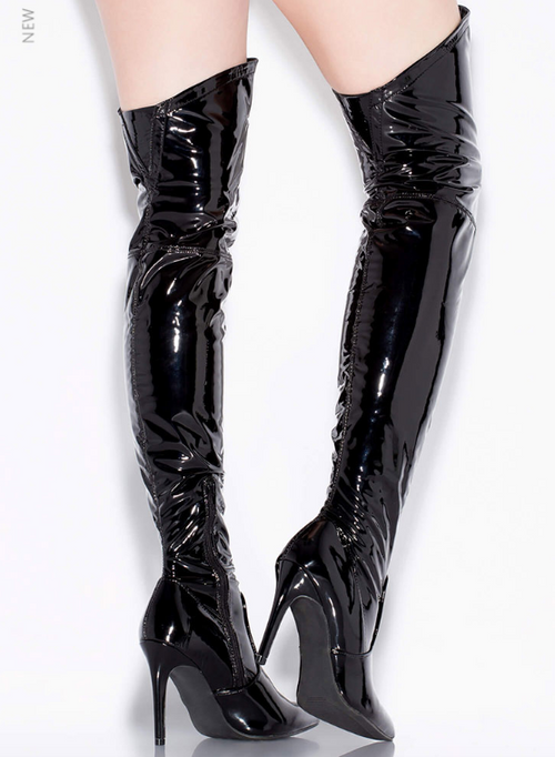 Patent Over the Knee Boot
