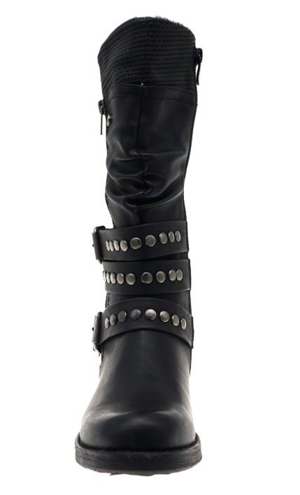 Studded Calf Length Boot