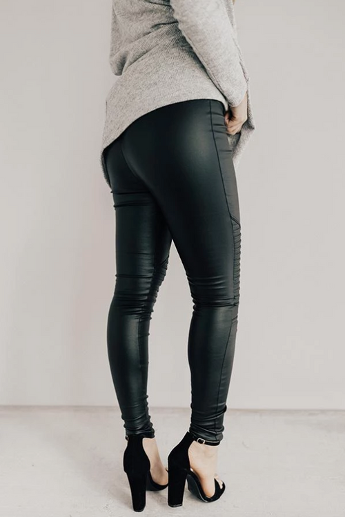 Moto Faux Leather Legging