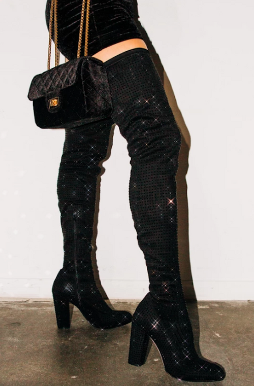 Thigh High Studded Boot