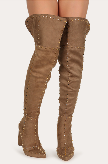 Studded Over the Knee Boot