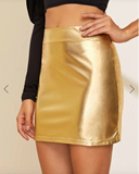Metallic Mini Skirt