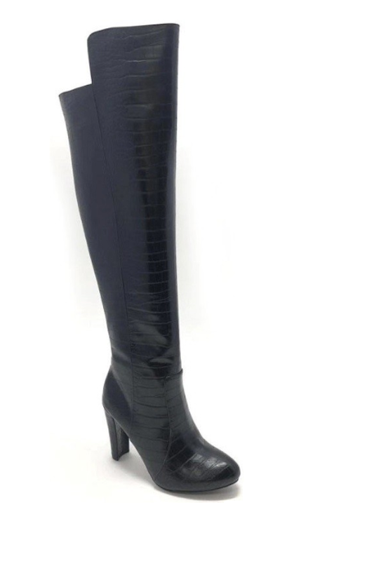 Crocodile Thigh High with Heel