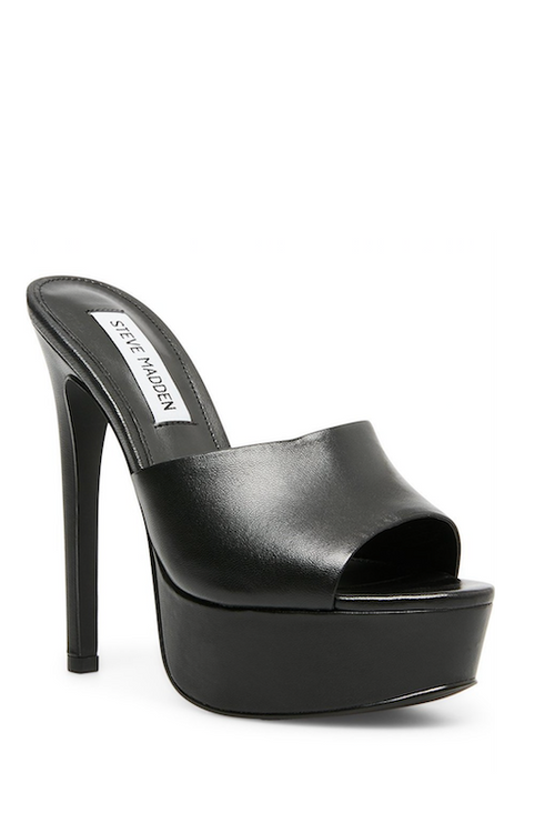 STEVE MADDEN Platform Slide with Heel