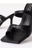 Square Toe Strappy Sandal with Heel
