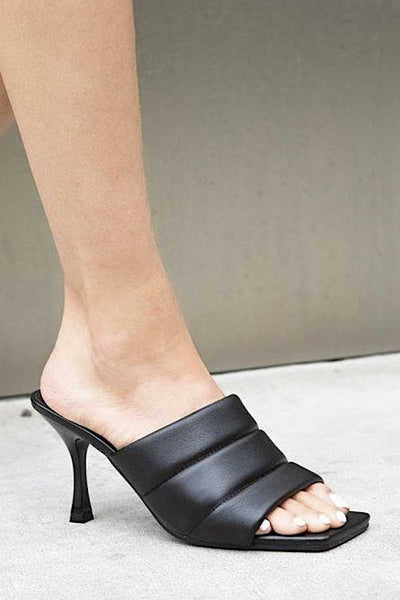 Short Heel Sandal With Strap