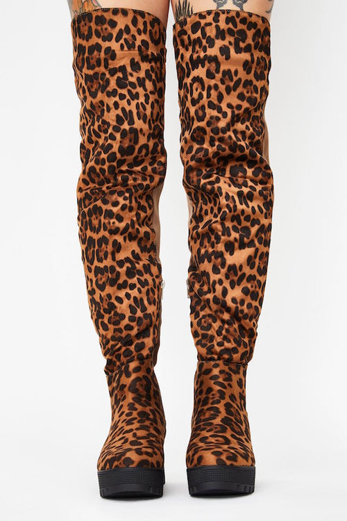 Leopard Chunky sole Boot
