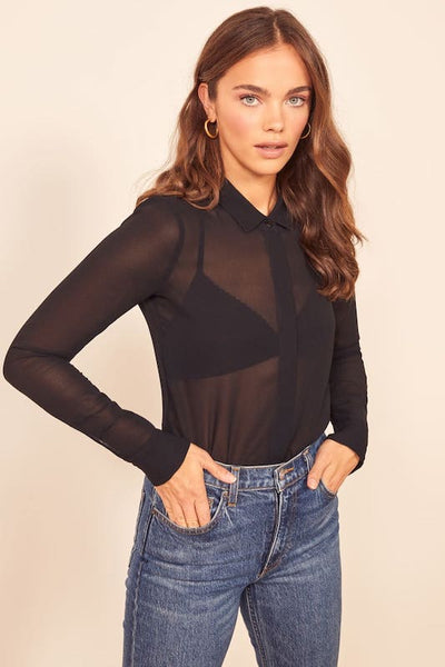 Long Sleeve Mesh Shirt