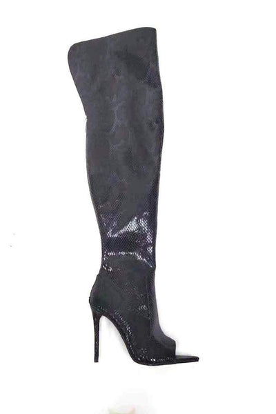 TOXIC Open Toe Thigh High Heel Boot