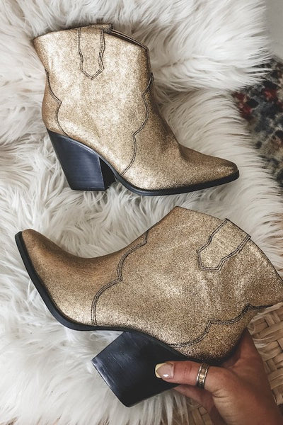 Pointy Toe Western Ankle Bootie