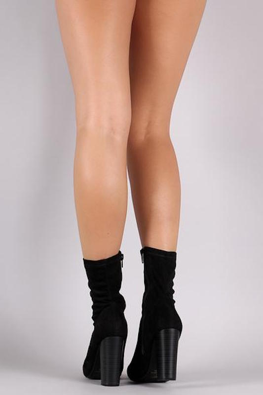 Chunky Stretch Fitted Bootie