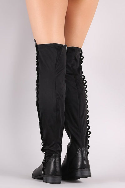 Thigh High Boot with Eyelet Grommets
