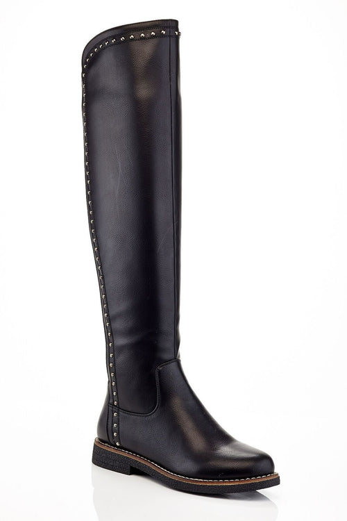 OTK Studded Stretch Boot