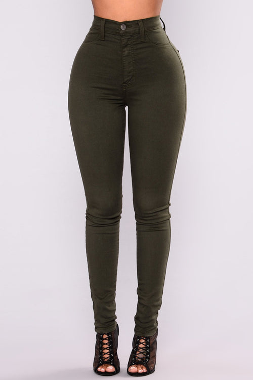 Olive Classic Skinny Jeans