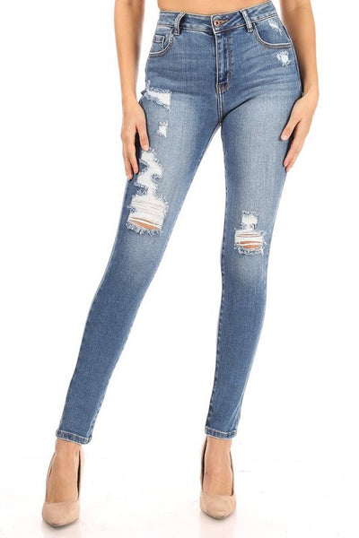 High Waisted Destroy Skinny Jean