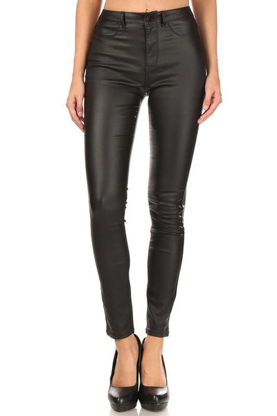 High Rise Skinny Faux Leather Pants