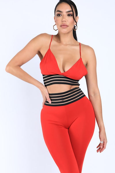 Striped Elastic Set