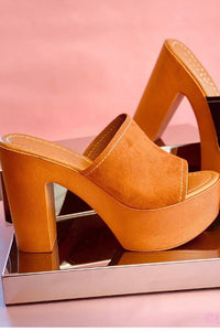 Mule Slide with Wooden Heel