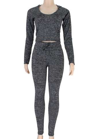 Active Wear Hoodie & High Waisted Legging Set