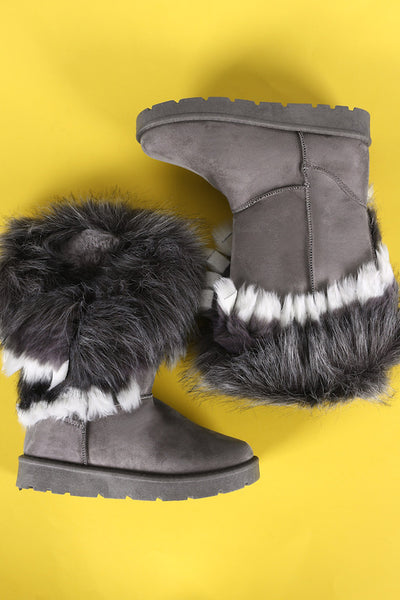 Boot With Fur Collar