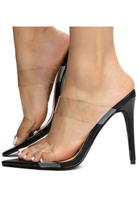 Lucite Double Band Heel