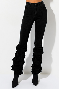 High Rise Scrunchy Calf Jean