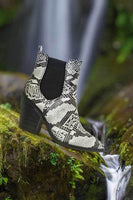 Snakeskin Western Bootie with Side Gore