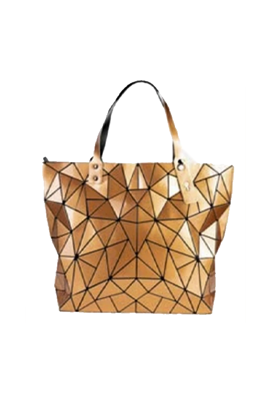 Tiled Tote Bag with Zipper