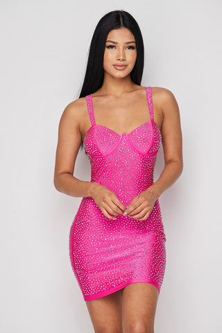 Studded Seduction Bodycon Mini Dress