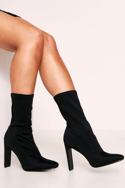 Thin Heel Side Zip Pointed Toe Bootie