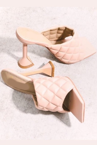 Open Toe Quilted Heel