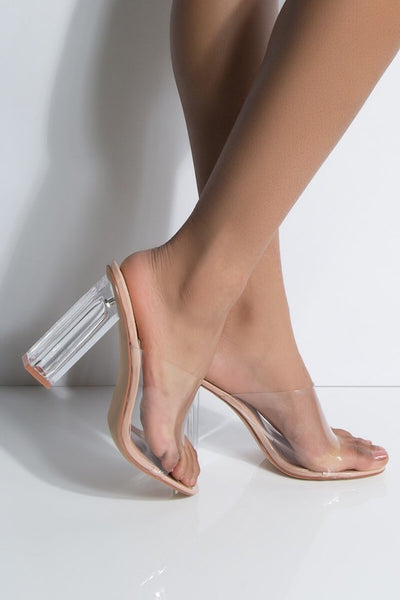 Chunky Clear Strap Heel