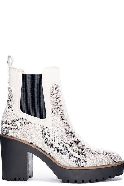 CL Snake Chunky Sole Short Bootie
