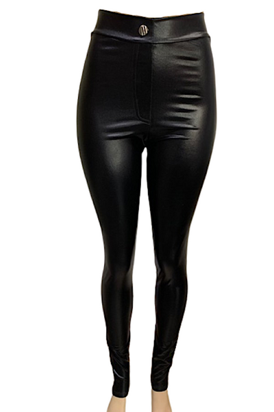 Shiny Faux Leather Pants