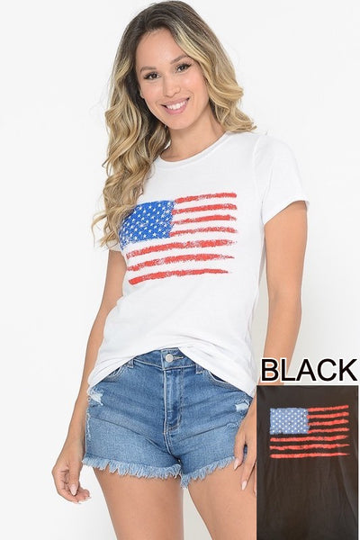 Flag Short Sleeve Top
