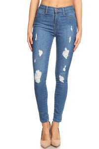 Destroyed High Rise Jean