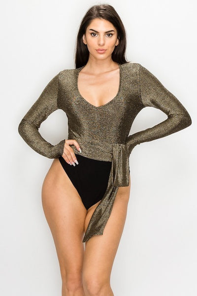 Metallic Front Bodysuit