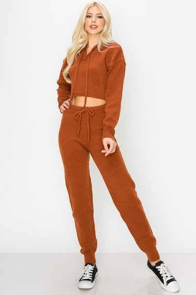 Thick Hoodie Sweater & Pant Set