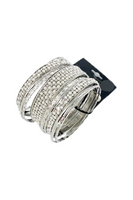 Silver Bangles and Stud Earring Set