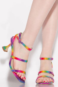 Strappy Sandal with Sculpted Heel