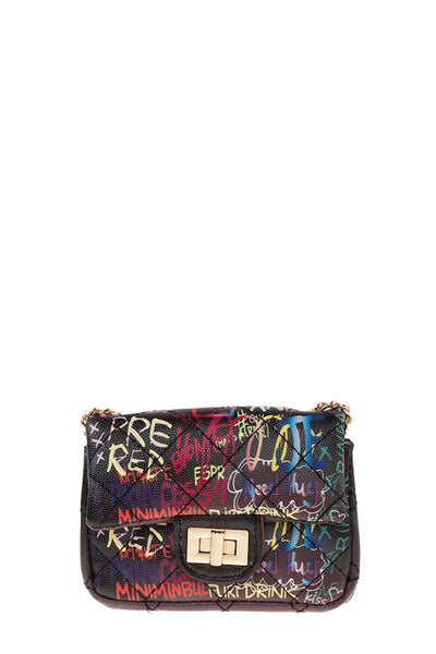 Mini Graffiti Bag with Chain