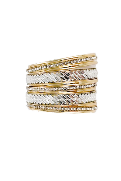 Gold Band Bangles Set