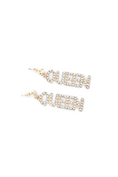 Rhinestone 'QUEEN' Dangling Earring