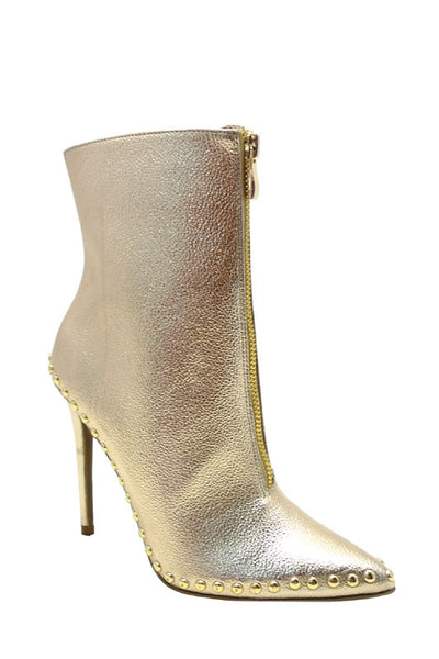 Studded Metallic Bootie