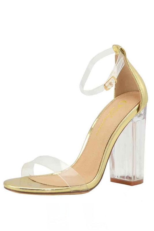 Clear Ankle Strap Heel